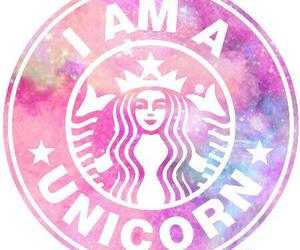 unicorn, starbucks, and pink image