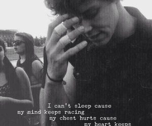 ashton, black and white, and Lyrics image
