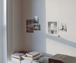 book, white, and room image