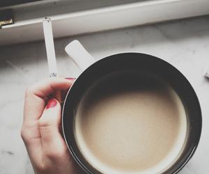 coffee, cigarette, and smoke image