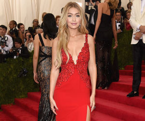 gigi hadid, model, and red image