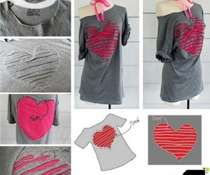 diy, fashion, and heart image