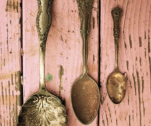 spoon, vintage, and pink image