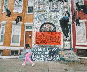 protest, mike brown, and freddie gray image