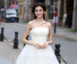 fashion, party dress, and prom dress image