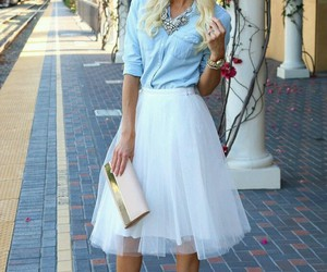 chic, girl, and jewelry image