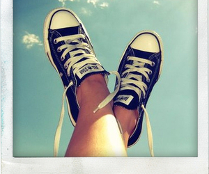 converse, polaroid, and shoes image