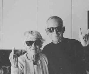 black and white, fuck, and grandparents image