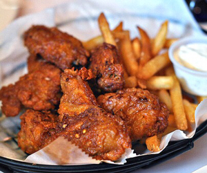 food, fries, and Chicken image