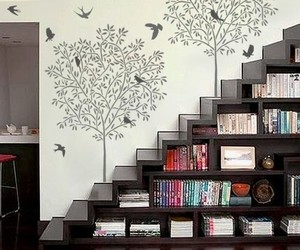 books, diy, and stairs image