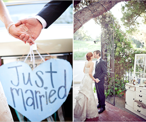 just married, love, and wedding image