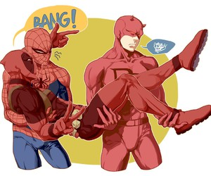 daredevil, deadpool, and spiderman image