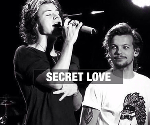 larry stylinson, secret, and louis tomlinson image