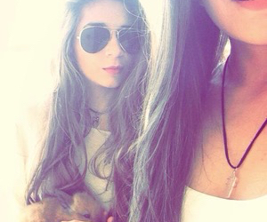 girl, bunny, and sunglasses image
