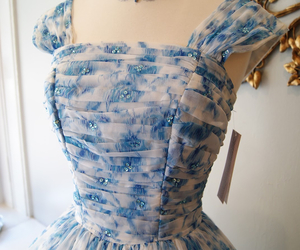 1950s, blue, and dress image