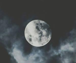 moon, night, and dark image
