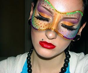 dramatic, eyeshadow, and glam image