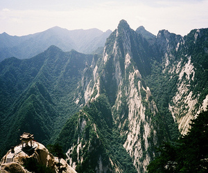 landscape, mountains, and Temple image