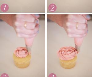 cupcake, diy, and rose image