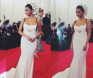 selena gomez, met gala, and dress image