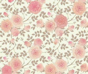 softy, wallpaper, and rose pattern image