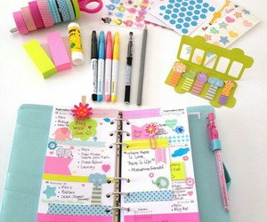 planner, school supplies, and study image
