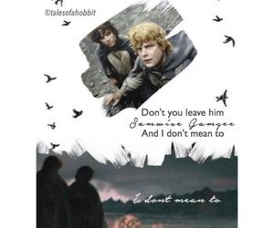 friendship, promise, and frodo and sam image