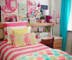 interior design, girly bedroom, and cute bedrooms image