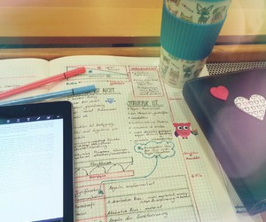 college, note taking, and girly image