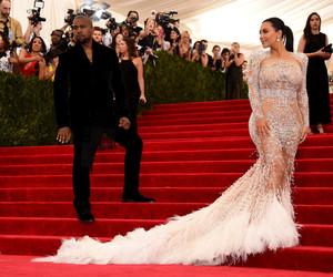 kim kardashian, kanye west, and beauty image