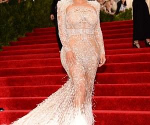 kim kardashian, dress, and met gala image