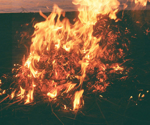 fire, vintage, and hipster image