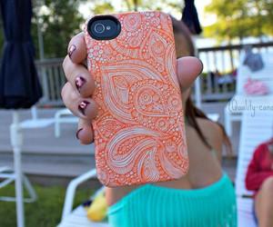 iphone, orange, and tumblr image
