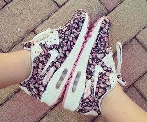 air max, fashion, and flower image