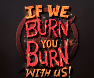 burn, quote, and hunger games image