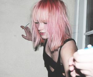 pink, hair, and pink hair image