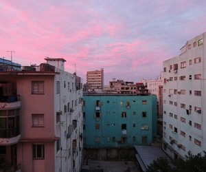 buildings, pastel, and purple image