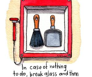 funny, glass, and nothing image