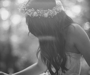 beautiful, black and white, and white dress image