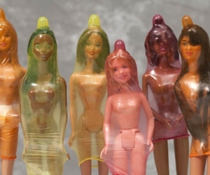barbie, condom, and doll image