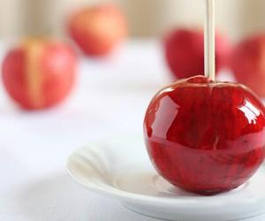 apple, food, and sweet image