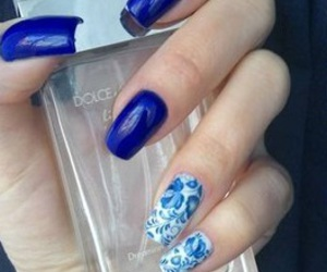 blue, girly, and blue nails image