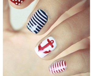 nails, red, and blue image