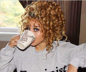 feminist, curly hair, and jadahdoll image