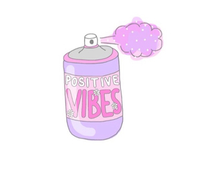 overlay, pink, and positive vibes image