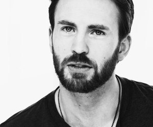 chris evans, captain america, and blue eyes image