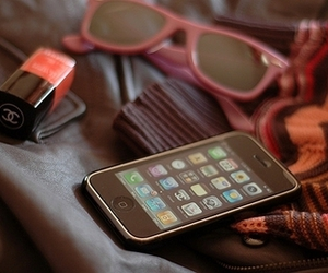 iphone, chanel, and sunglasses image