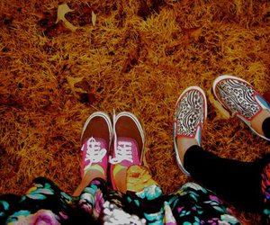 converse, leaves, and leggings image