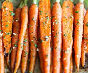 carrots, food, and vegetables image