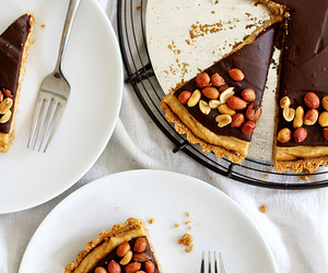 chocolate, peanut butter, and tart image